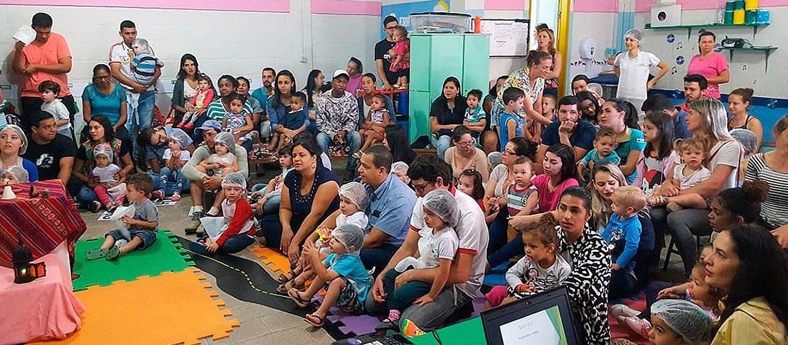 A escola atende 75 crianças com idades de seis meses a menores que três anos - Divulgação