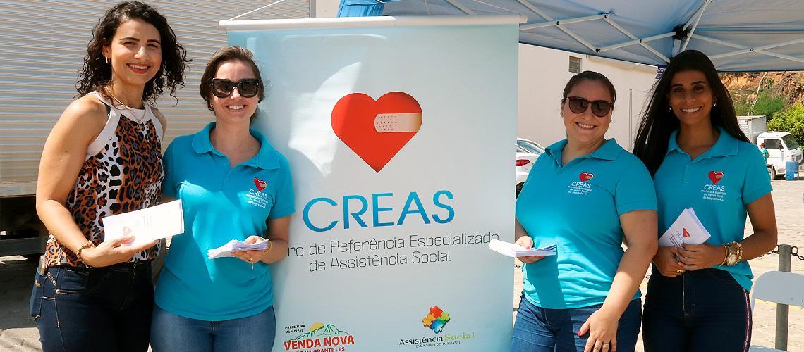 Equipe do Creas e a primeira-dama de Venda Nova trabalham na mobilização - Ascom/PMVNI
