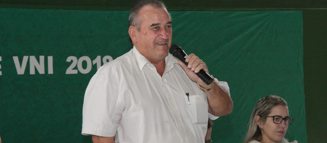 Prefeito Braz Delpupo lembrou a dedicação de cada atleta para estar nos jogos - Ascom/PMVNI