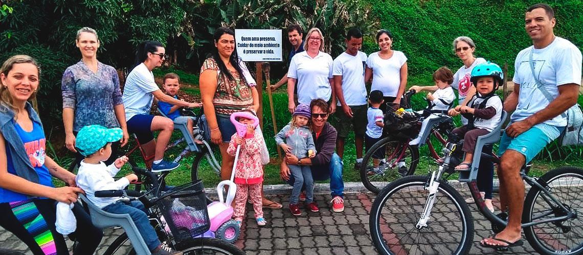 Projeto mobiliza famílias e coloca placas ao redor do Rio Viçosa - Arquivo pessoal