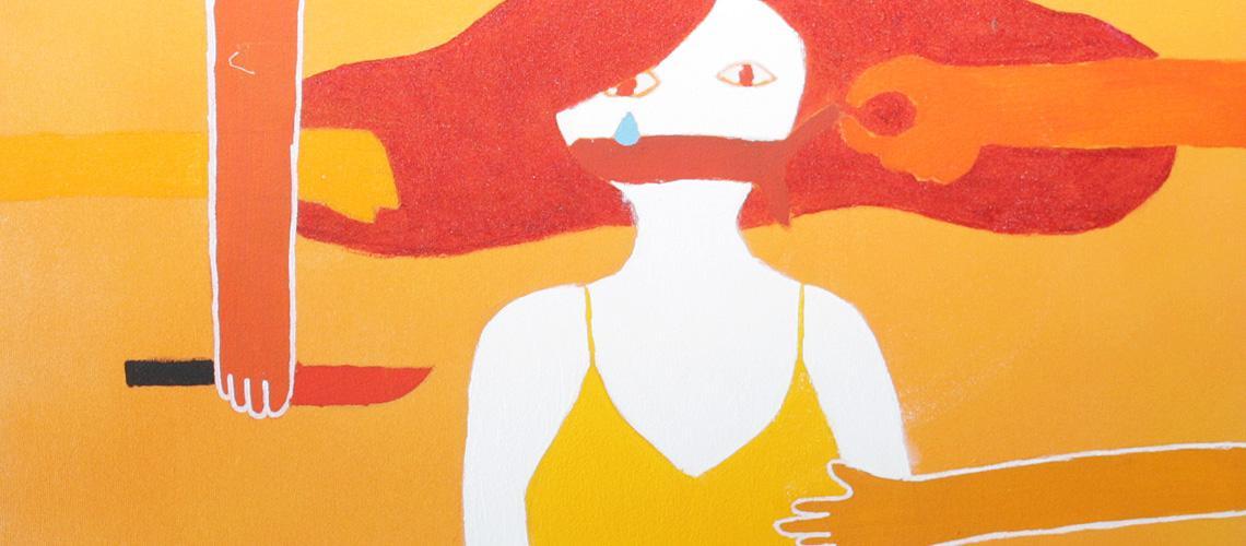 Uma das peças retrata a violência contra a mulher - Ascom/PMVNI
