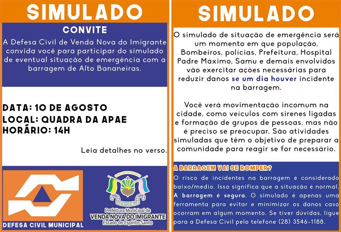 Material informativo já está sendo distribuído em meios digitais - Ascom/PMVNI