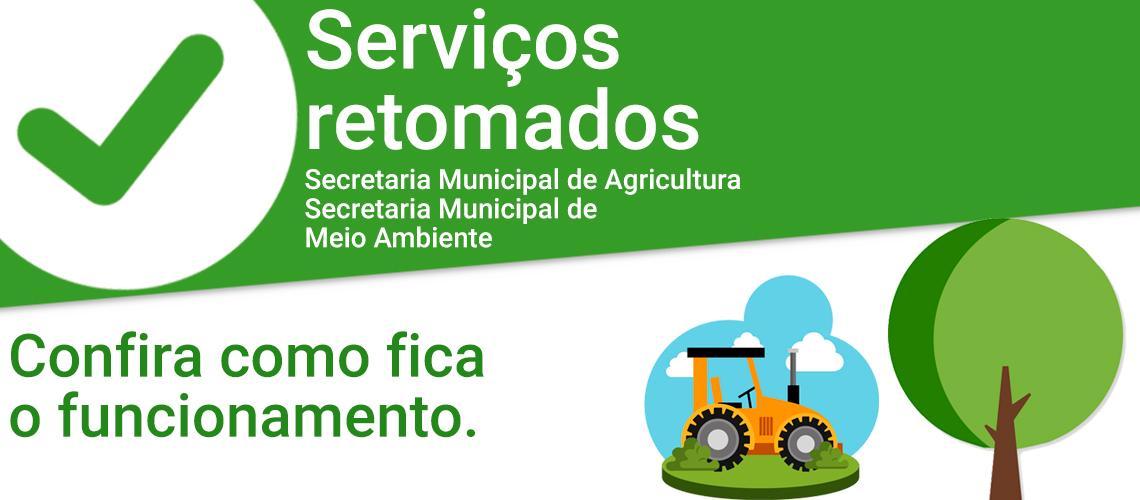 Agricultura e Meio Ambiente retomam atendimento