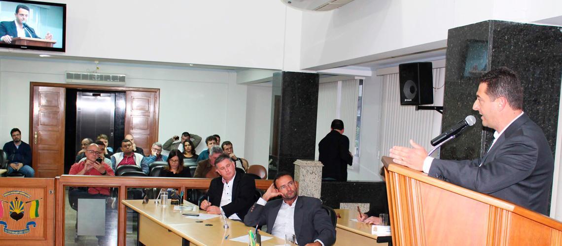 O novo prefeito falou do diálogo com instituições como forma de conduzir o Município da melhor forma - Ascom/Câmara Municipal