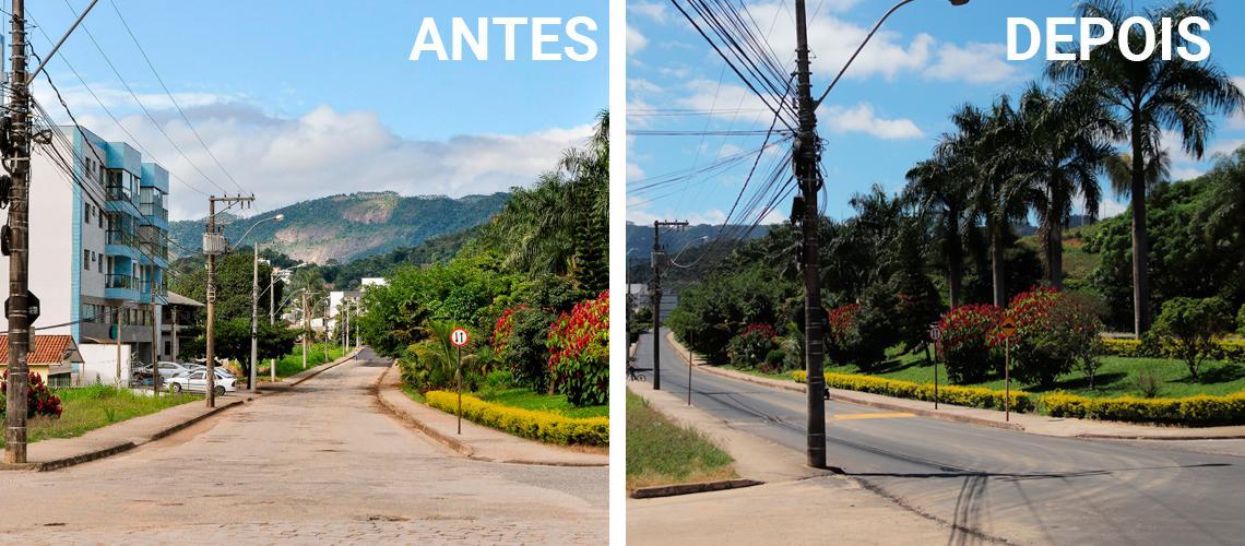 Avenida Ângelo Altoé recebeu novo asfalto no trecho da Vila Betânea a Bananeiras