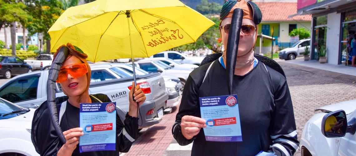 Caminhada levou conscientização aos moradores - Ascom/PMVNI