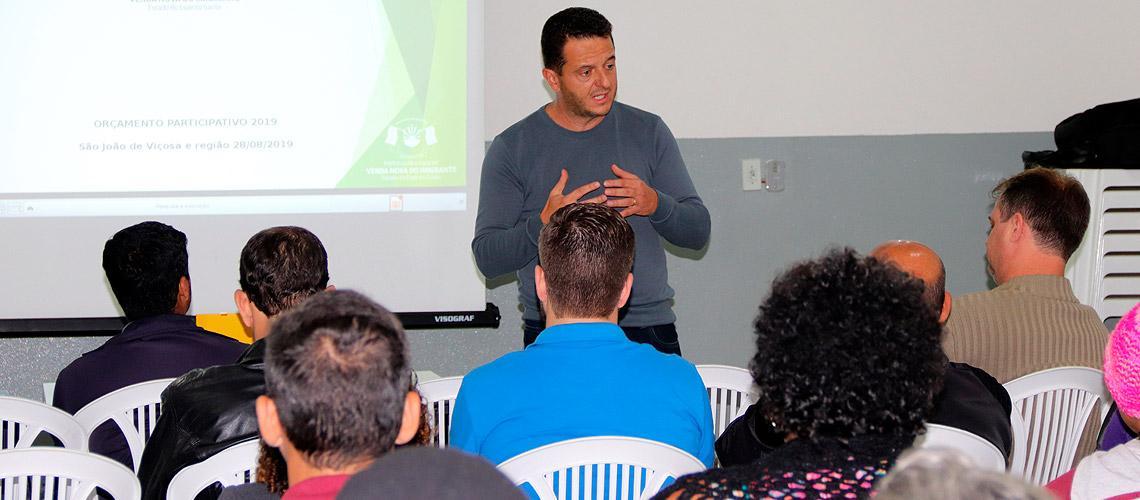 Prefeito Paulinho Mineti esteve presente em mais essa reunião - Ascom/PMVNI
